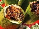 Рецепта Пълнени тиквички с кайма и ориз на фурна
